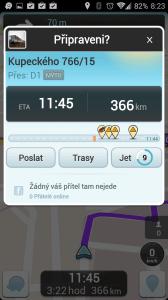 Waze: informace o dopravních komplikacích