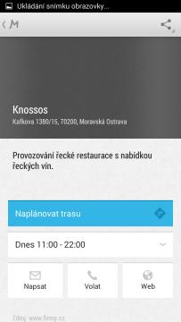 Mapy.cz: zobrazení informací o podniku