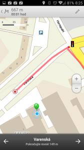 Mapy.cz: navigace
