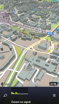 Sygic: zobrazení mapy