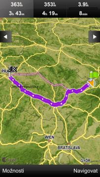 Sygic: výběr trasy