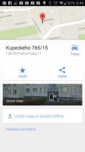 Mapy Google: zobrazení cíle ve StreetView