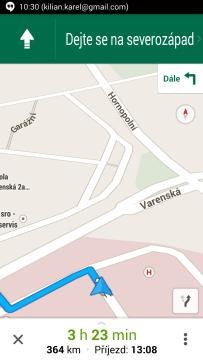 Mapy Google: turn-by-turn navigace