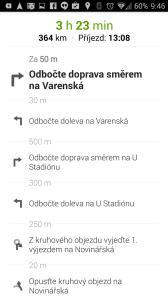 Mapy Google: itinerář