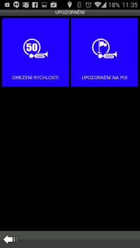 BE-ON-ROAD: nastavení upozornění