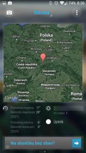 Třetí obrazovka aplikace Bright Weather