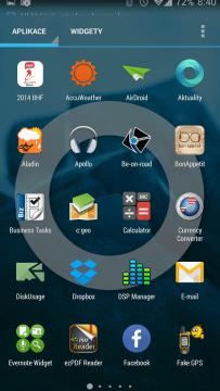 Seznam aplikací ve stylu Project Hera
