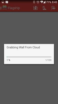 Stahování tapety z cloudu
