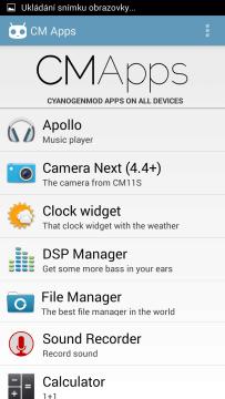 CMapps: seznam aplikací