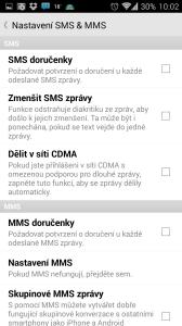 Nastavení SMS a MMS