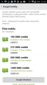 Nákup kreditů
