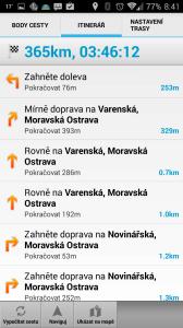 MapFactor: GPS Navigation: itinerář trasy