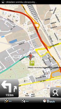 MapFactor: GPS Navigation: 2D pohled
