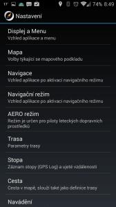 SmartMaps: GPS Navigace a Mapy: možnosti nastavení
