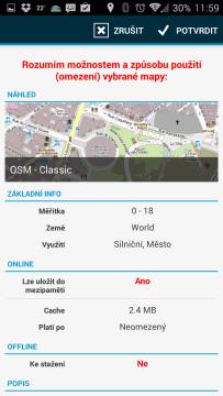 Locus Map Pro – Outdoor GPS: výběr mapových podkladů
