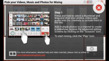 Nápověda: Vyberte soubory do videa