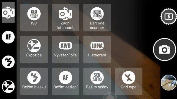 Tlačítka v levém panelu lze nastavit dle uživatele