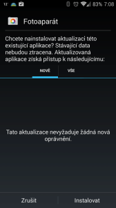 Instalace aplikace Fotoaparát Google