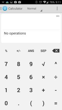 Rozhraní aplikace One Calculator Holo