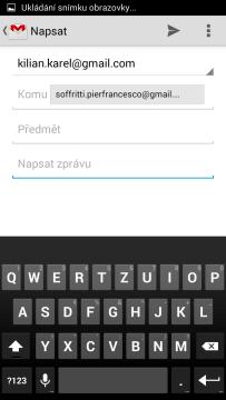 Odeslání zpětné vazby e-mailem