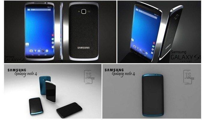 Jeden z mnoha konceptů Galaxy Note 4