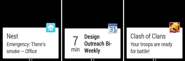 android wear notifikace