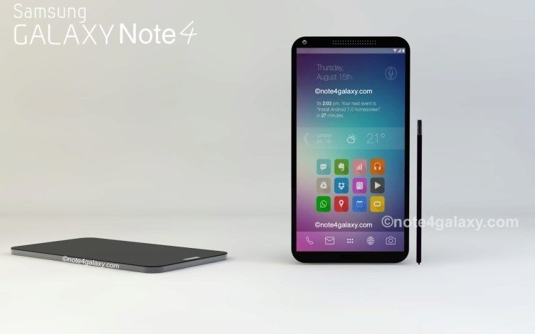 Render Samsungu Galaxy Note 4