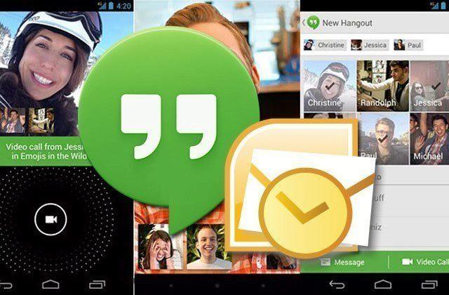 Uživatelé Outlooku a Google Apps mohou snadněji komunikovat skrze Hangout