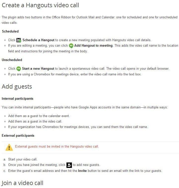 Pro více informací o používání Google Hangouts v aplikaci Outlook doporučujeme navštívit stránku oficiální podpory