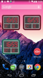 KM Clock widgets 3