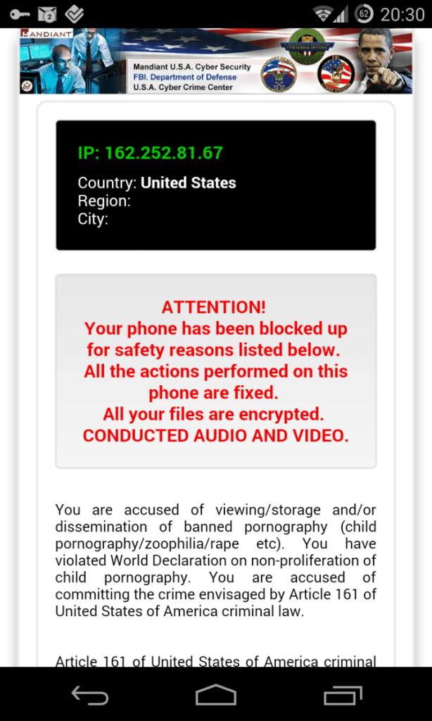 malware android zablokován