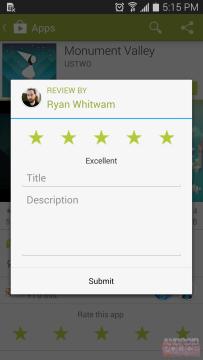 Hodnocení aplikace - stará verze