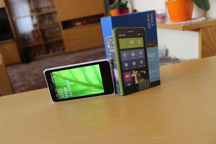 Nokia X recenze - balení
