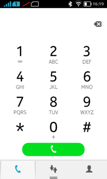 Nokia X recenze - dialer