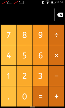 Nokia X recenze - kalkulačka