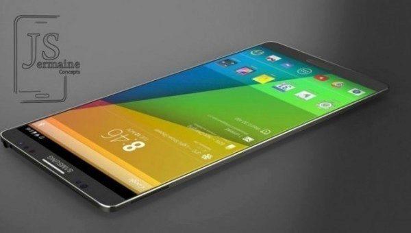 Jeden z renderů Galaxy Note 4