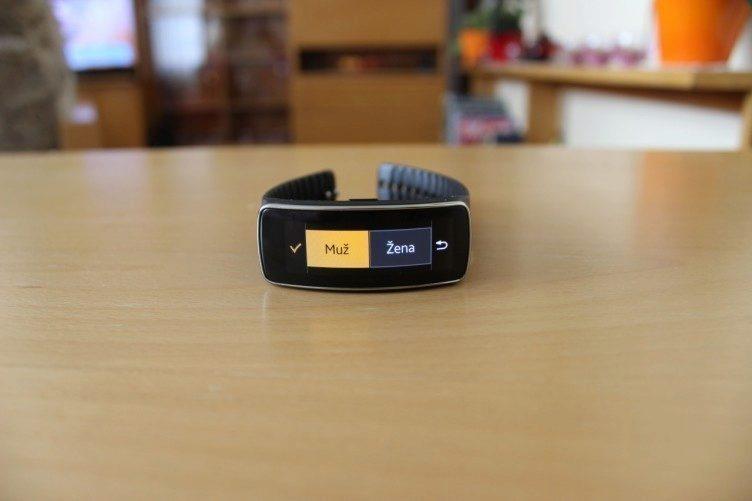 Samsung Gear Fit recenze - cvičení