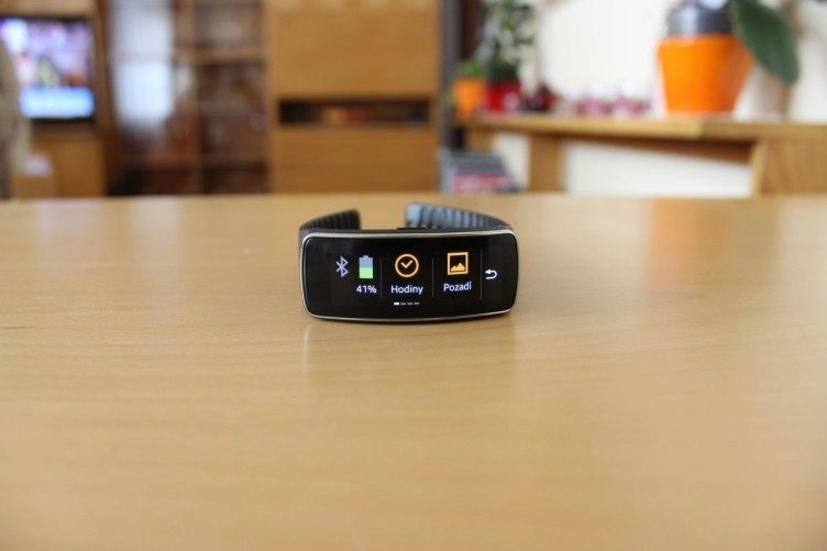 Samsung Gear Fit recenze - nastavení