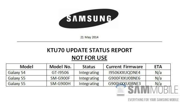 Samsung už testuje Android 4.4.3 pro Galaxy S4 a Galaxy S5