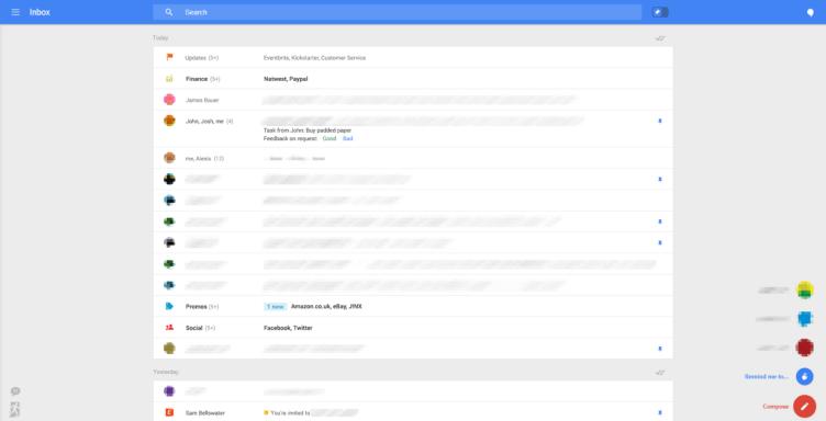 Nové rozhraní webové aplikace Gmail