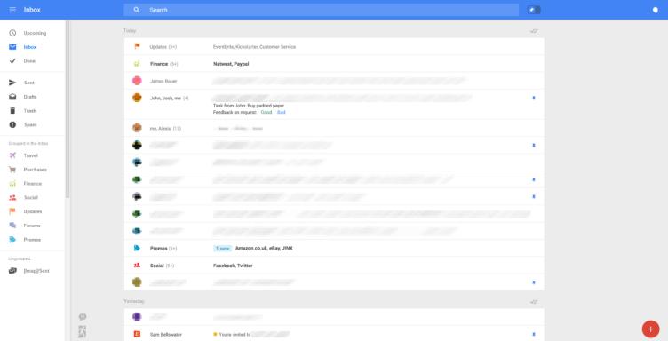 Nový vzhled webové aplikace Gmail
