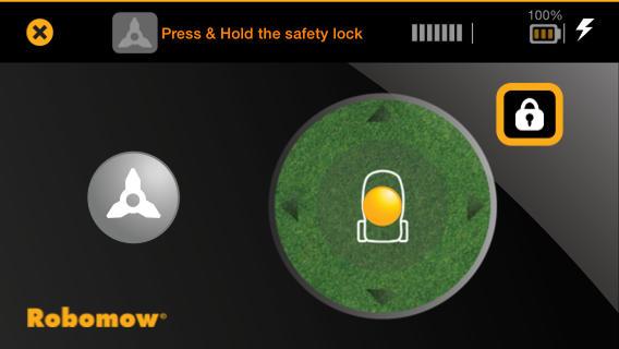 Sekačka-Robomow-rc306-aplikace-řízení