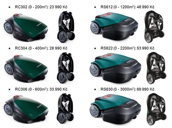 Sekačka-Robomow-rc306-katalog-modelů