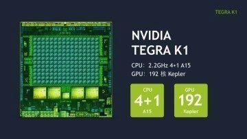 Procesorem je NVIDIA Tegra K1