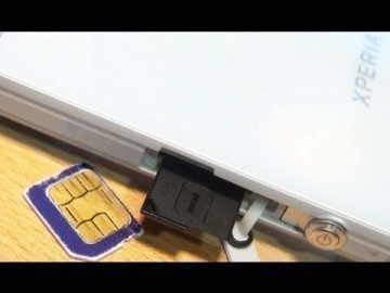 xperia z SIM card sony