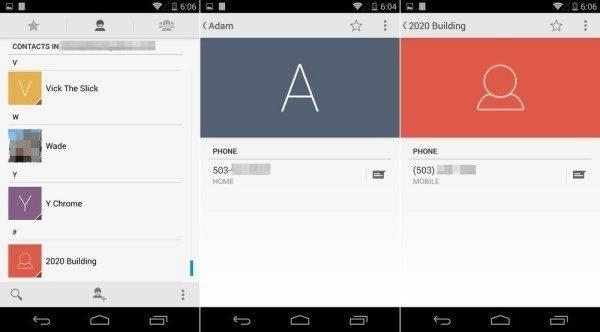 Android 4.4.3 přináší nový vzhled aplikace Lidé