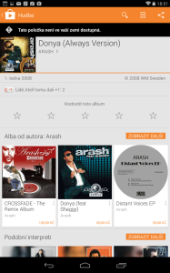 Audiovyhledávání: možnost nákupu písně