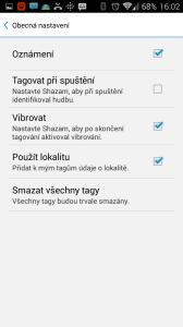 Shazam: nastavení