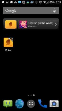 SoundHound nabízí widgety o rozměrech 1×1 a 4×1.