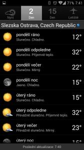 Palmary Weather Premium: dvoudenní předpověď